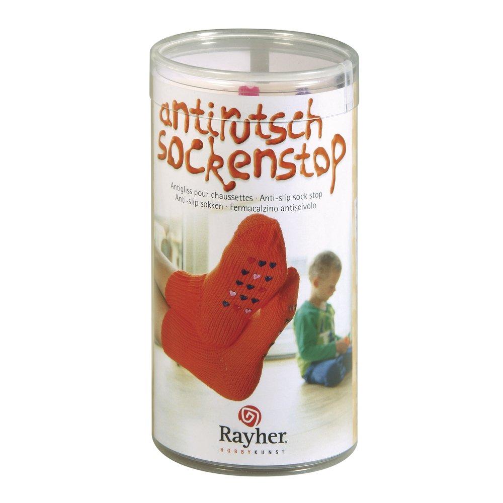 Rayher 38846000Juego Calcetines Stop Color Rosa, Rosa, Lila, Incluye Plantilla y raspador, caja de PVC Rayher Hobby