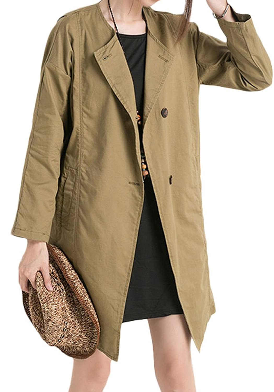 Voguees Damen neue Herbst Lässige Trenchcoat mit Buttons