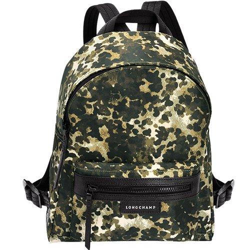 Longchamp - Bolso mochila de Material Sintético para mujer verde caqui: Amazon.es: Zapatos y complementos