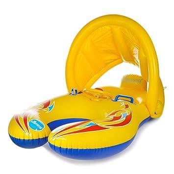 Flotador de natación para recién Nacido con toldo Hinchable ...