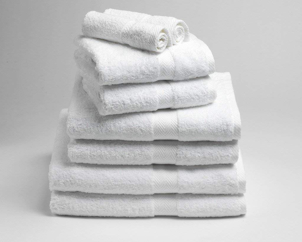 Restmor Ltd Hotel Quality Egyptian Cotton Towel Packs White Heavyweight 600GSM 6 Pack of Bath Sheets