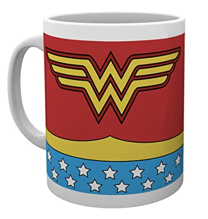 GB eye LTD, DC Comics, Wonder Woman Costume, Taza de ceramica