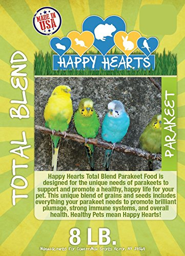 (Happy Hearts Total Blend Parakeet Seed Mix (8 Pounds))