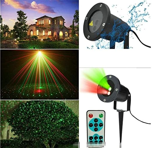 Can Be Used Etc L/&T STAR Lawn Projection Lamp Double Hole Static Remote Control Festive Lights Atmosphere Lights Garden Forest Grass Surface Water House