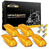 Partsam 5x Clearance Light Cab Marker Amber Cover 264159AM+ T10 Amber 5050 LED Bulb for 1988-2002 Chevy/GMC C1500 C2500 C3500 C5500 C6000 C7000 C7500