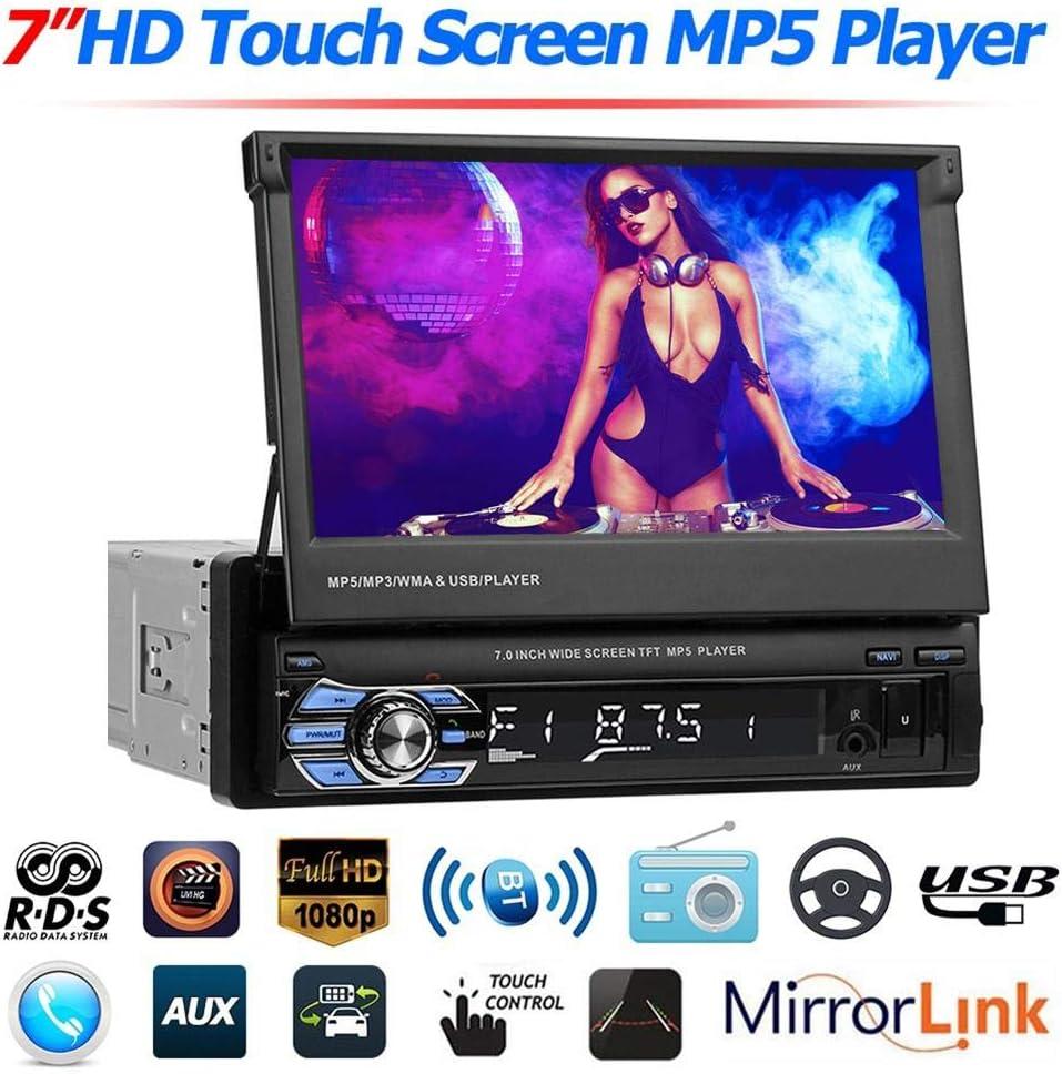 Happt Lecteur MP5 7pour Voiture Navigation GPS Radio RDS AM FM St/ér/éo /Écran Tactile USB Bluetooth Receiver 9602 Autoradio 1 Din