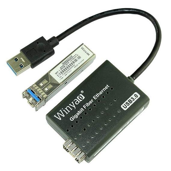 La Tarjeta De Red De Fibra Óptica USB 3.0 a 1000 Mbps ...