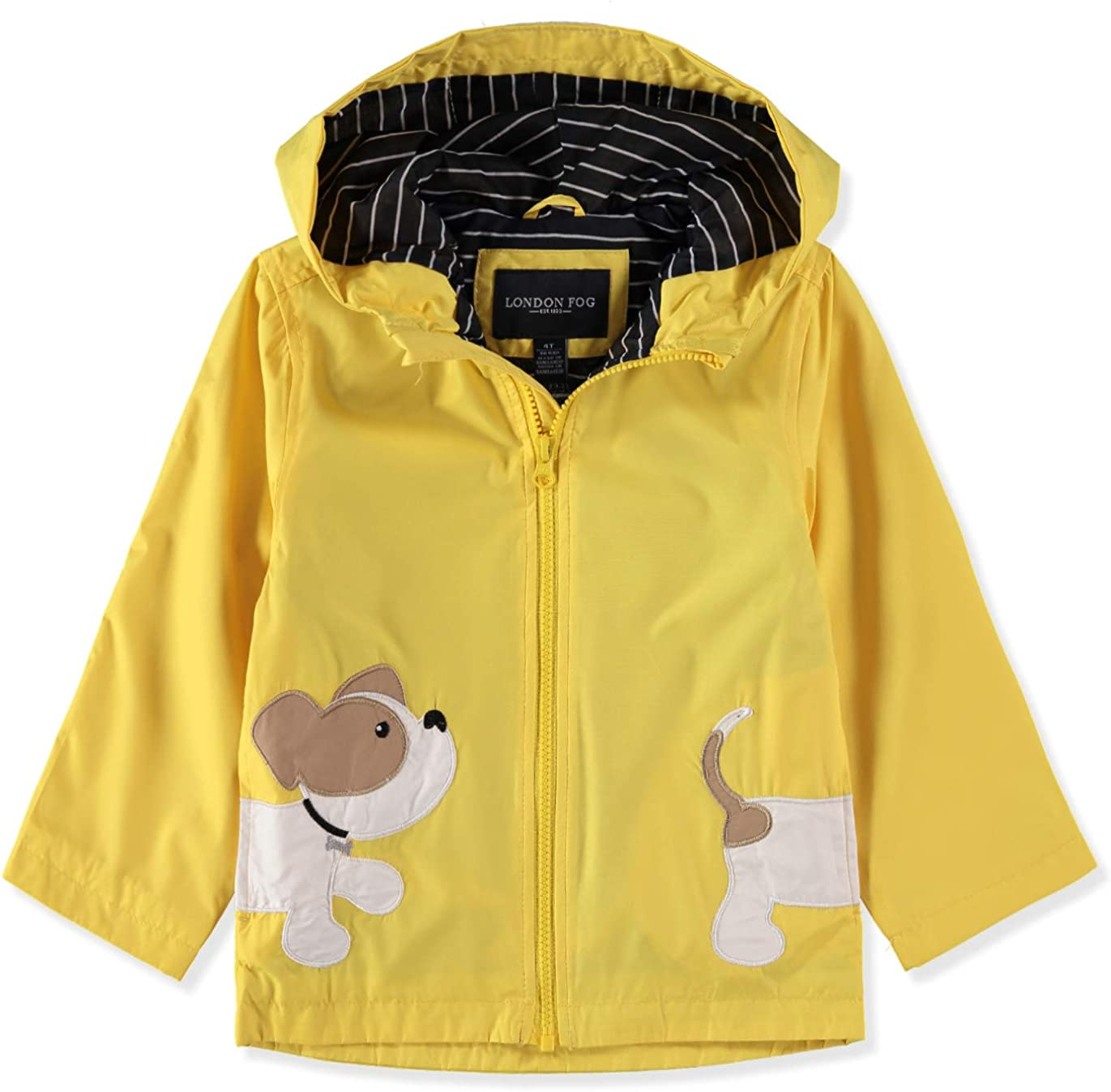 LONDON FOG Boys' Little Animal Rainslicker Rain Jacket