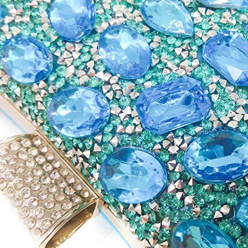 Del Diamante Del Bolsas Tarde De Mujeres Las Cielo Boda De Embrague Partido Rhinestone Embrague Banquete De Azul La Del De w4StxxqC