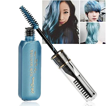 moresave Unisex einmalige Color del pelo Mascara DIY resistente al agua temporales Modelado Cera de pelo