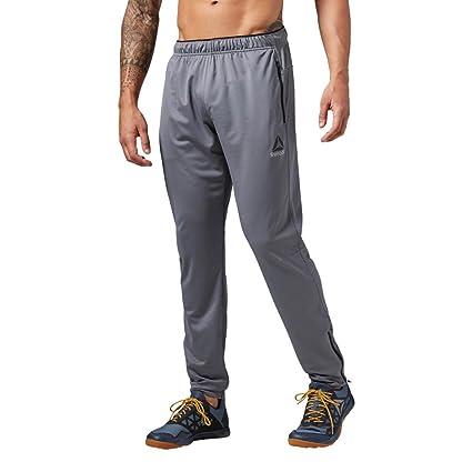 Reebok Men's Workout Ready Stacked Logo Trackster Pants, X