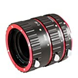 Neewer Auto Focus Macro Extension Tube Set for Canon DSLR Cameras Such as EOS 5D Mark II III,7D,10D,20D,30D,40D,50D,300D,350D,400D,450D,500D,550D,650D,700D,1000D (Metal Bayonet)