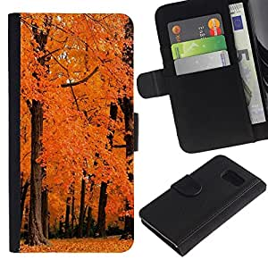 All Phone Most Case / Oferta Especial Cáscara Funda de cuero Monedero Cubierta de proteccion Caso / Wallet Case for Sony Xperia Z3 Compact // Nature Orange Woods