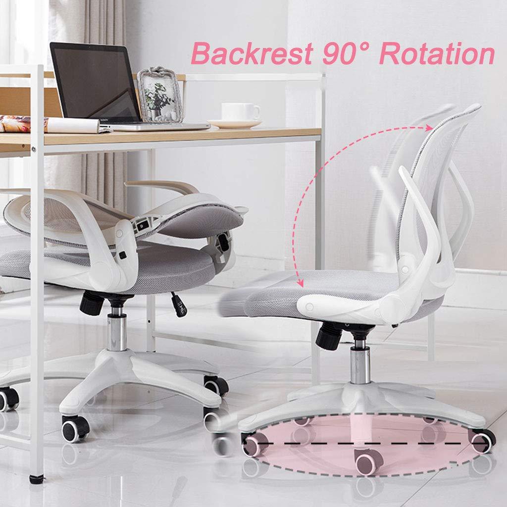 Svängbar stol ryggstöd vikbar hem arbetsrum skrivbord stol dator stol student skriva stol konferensstol med andningsbar nät ergonomisk design, rosa gRÖN