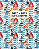 2020-2024 Five Year Planner: Modern Sailboat Tropical Abstract Fun | 60 Month Calendar and Log Book | Business Team Time Management Plan | Agile ... 5 Year - 2020 2021 2022 2023 2024 Calendar)