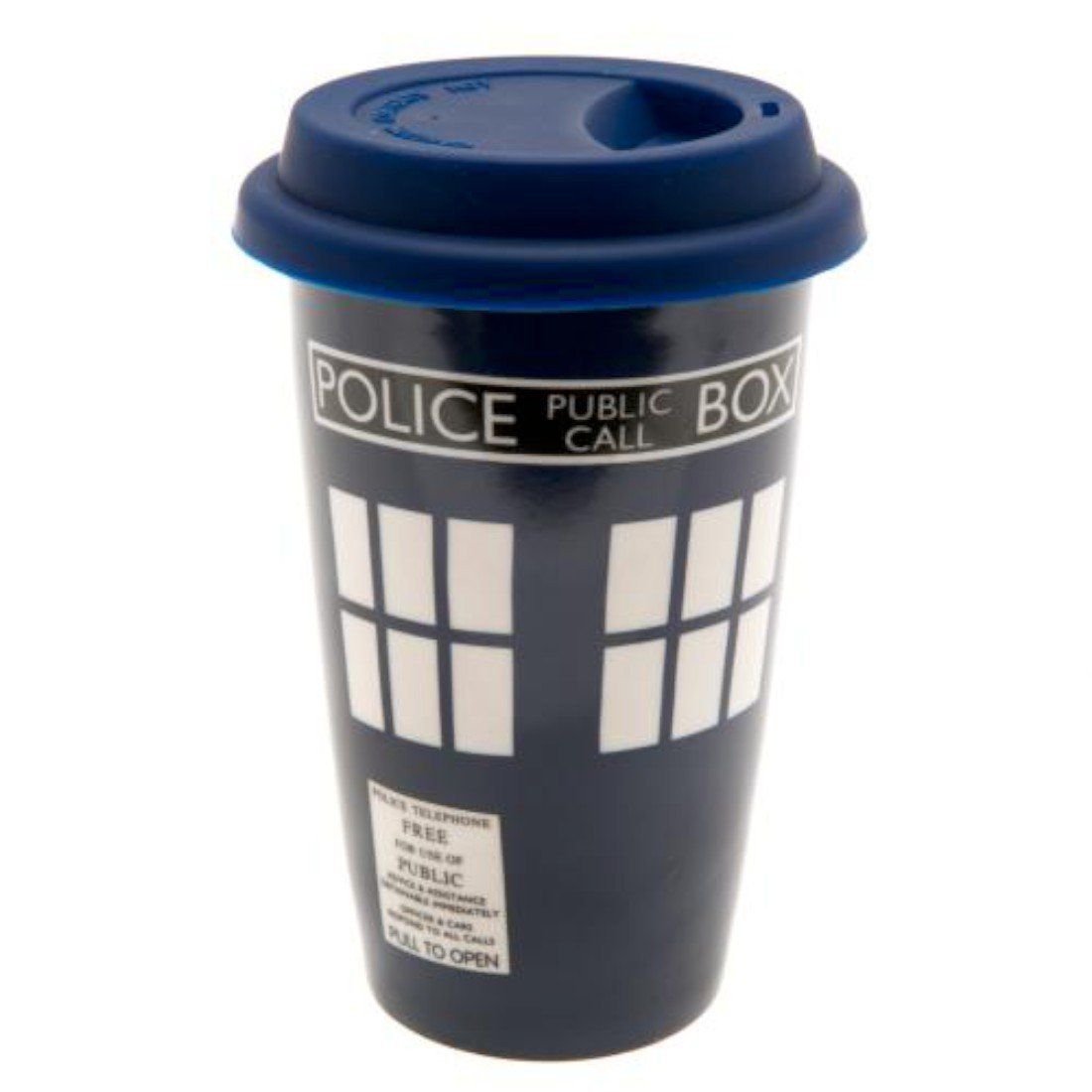 Doctor Who Ceramic Travel Mug Ceramic Travel Mug with Silicone Lid with Hole for Drinking Approximately 14 cm GiftRush