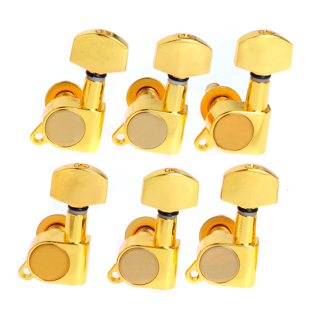 Kmise A2371 K-803 Guitar-String Tuning Pegs Tuners Machine Heads Gold