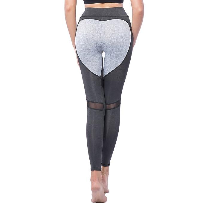 137403ffe284e YOFIT Women Sexy High Waist Mesh Patchwork Yoga Leggings Tights Fitness Gym  Sports Workout Running Pants: Amazon.co.uk: Clothing