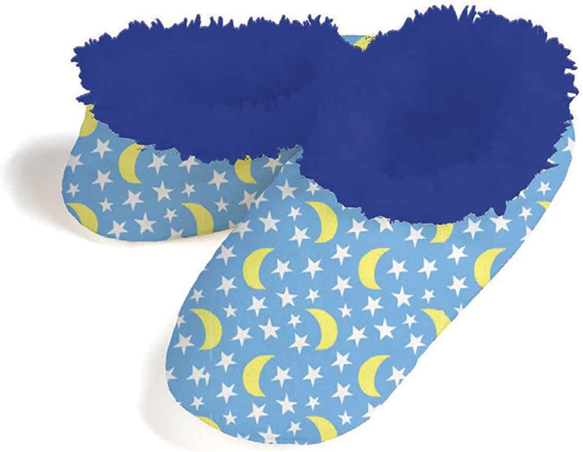 Snoozies Slippers for Women - Stars and Moon Fleece Lined Womens Slippers - House Slippers for Women