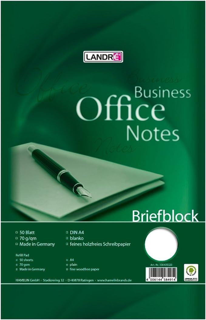 "LANDRÉ Briefblock /""Business Office Notes/"" rautiert DIN A4"