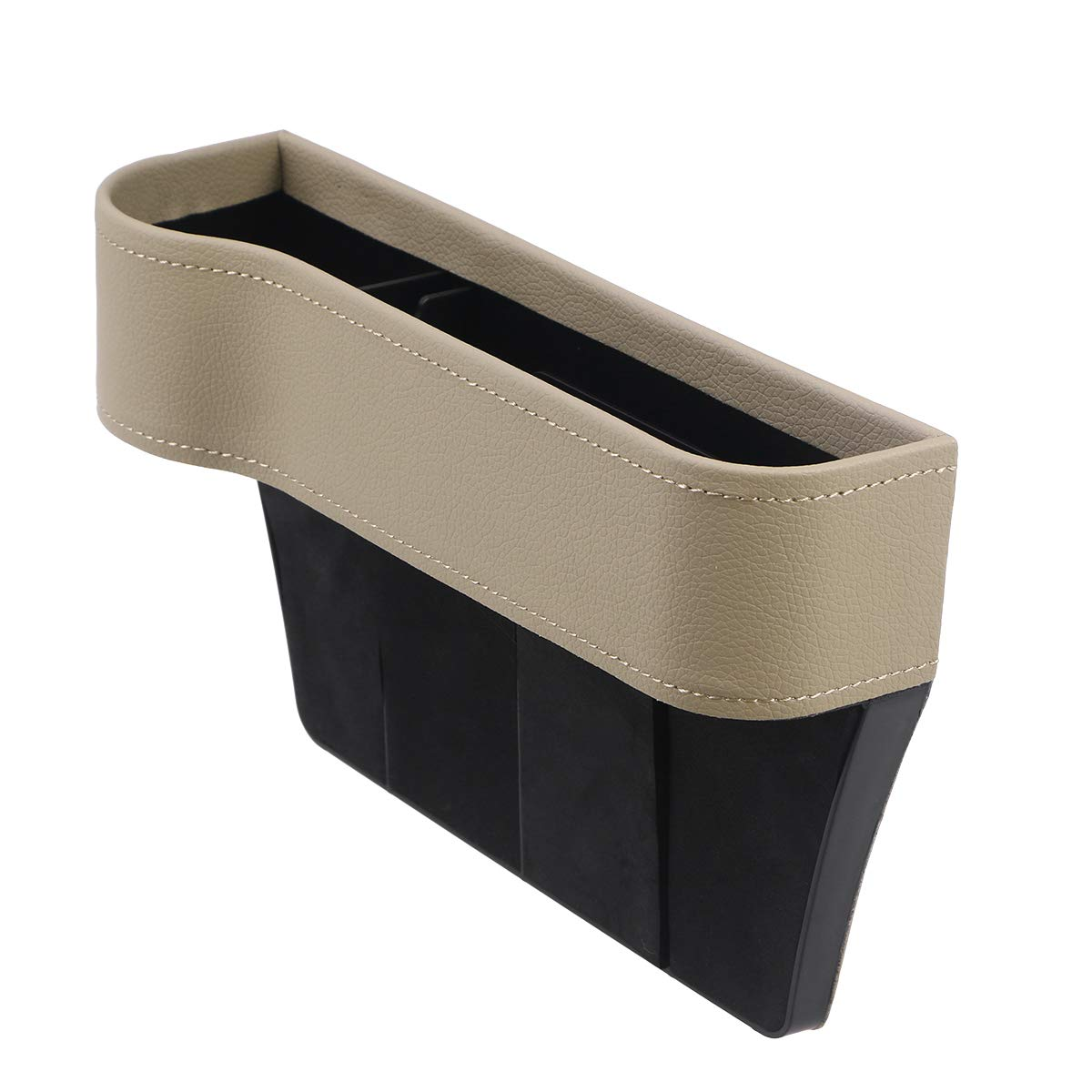 LIOOBO Console in Pelle Tasca Laterale Organizer Seggiolino Auto Filler Catcher Gap Space Storage Box Portabottiglie Collettore di Monete Accessori Interni per Auto