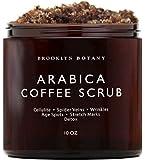 Brooklyn Botany Arabica Coffee Body Scrub & Face Scrub - 100% Natural - Coconut and Shea Butter - Best Anti Cellulite…