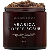 Brooklyn Botany Coffee Body Scrub and Face Scrub - 100% Natural Anti Cellulite Body Scrub & Stretch Mark Remover - Moisturizi