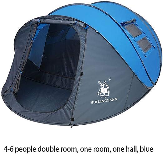 QWERDF Tienda de campaña con instalación instantánea, 1-2,2-3,4-6 Personas Tiendas de campaña Familiares para Acampar, Senderismo Playa de Viaje,Blue,XL: Amazon.es: Hogar