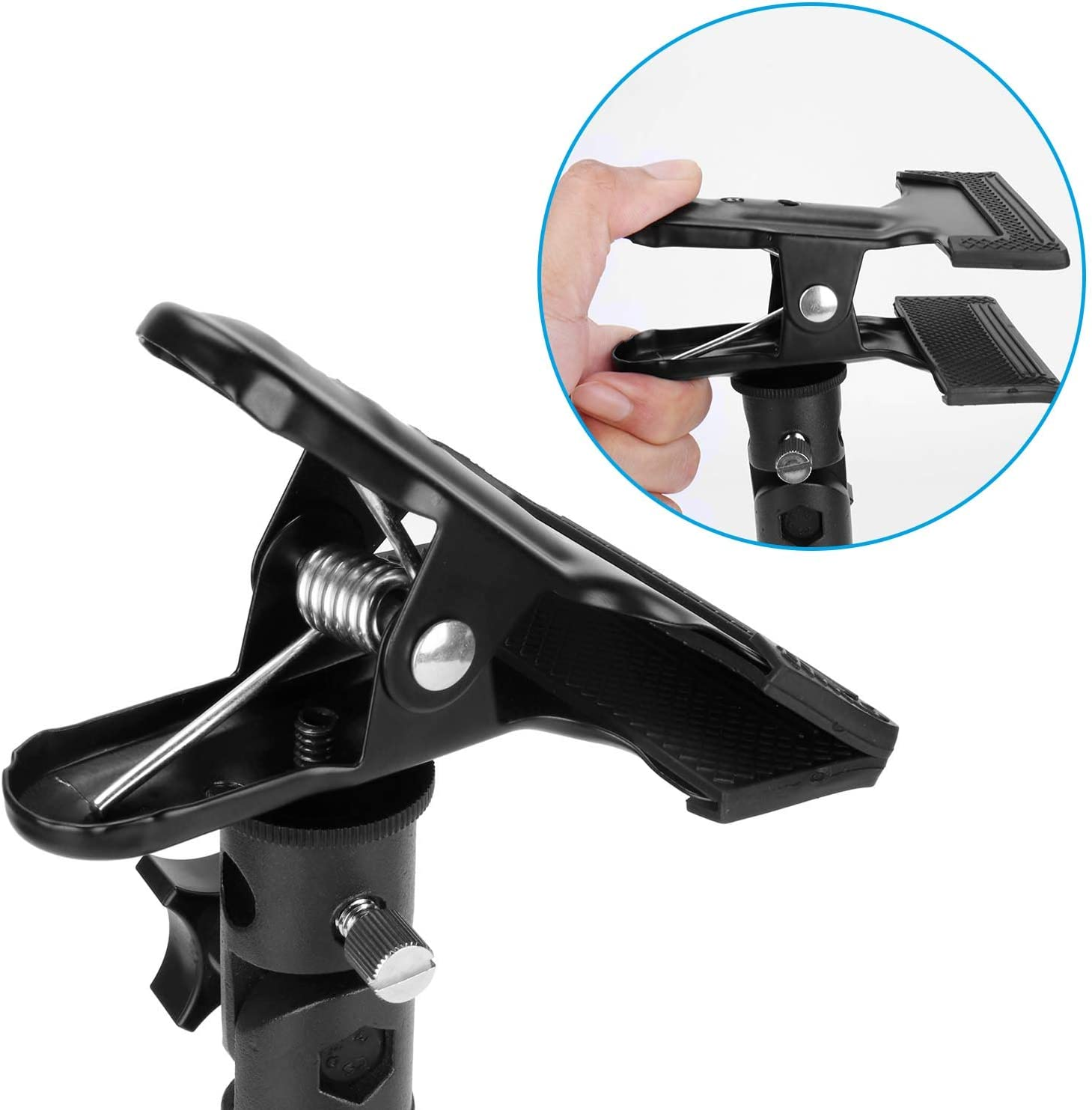 Light Stand Bracket and Photography Studio Heavy Duty Metal Clamp with Cold Shoe Adapter for Clamping Reflector or Mounting Speedlite Flash and Umbrella PEYOU Reflector Clamp Holder
