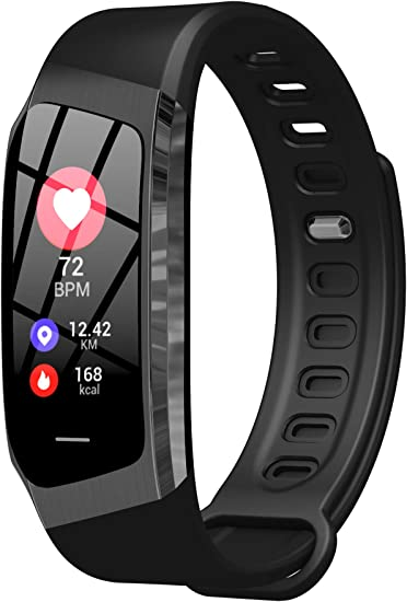 Fitness Tracker Heart Rate Monitor Blood Pressure Sleep Calorie Pedometer Watch Waterproof Activity Tracker for Men Women