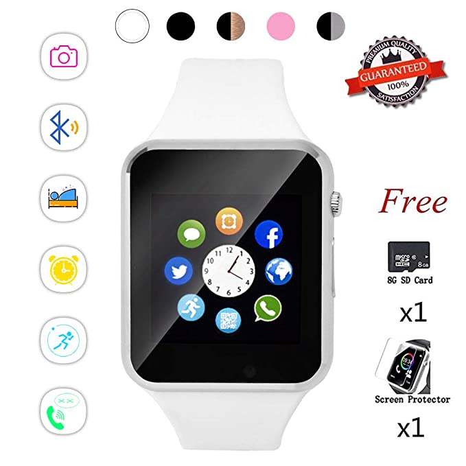 Amazon.com: Beaulyn Smart Watch,Touch Screen Watch Phone for ...
