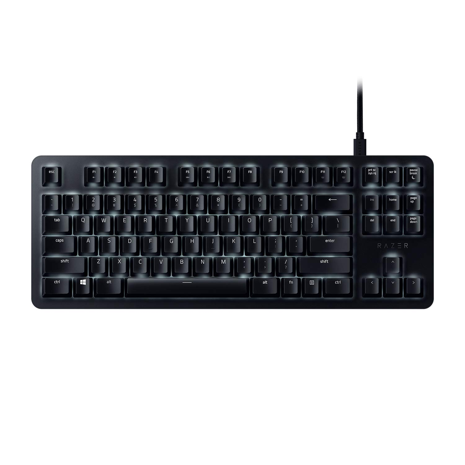 Razer RZ03-02640200-R3U1 BlackWidow Lite: Silent and Tactile Gaming Keyboard - Compact with Detachable Cable Razer Inc.