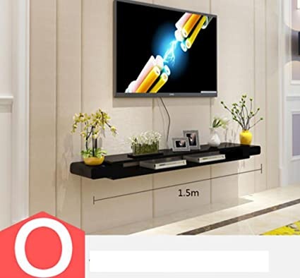 mensola TV Cabinet Set - Top Box Scaffali Salotto TV Parete di fondo ...