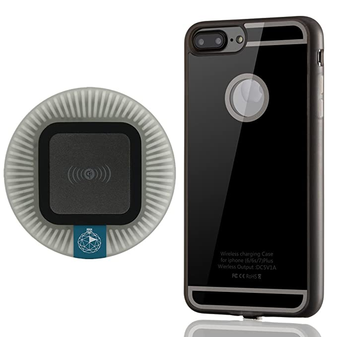 Qi - Kit de Cargador inalámbrico para iPhone 7 Plus, Incluye ...
