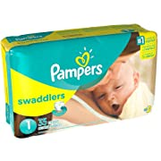 Pampers Stages Swaddlers New Baby Diapers Size 1 (8-14 lb) Jumbo Pack