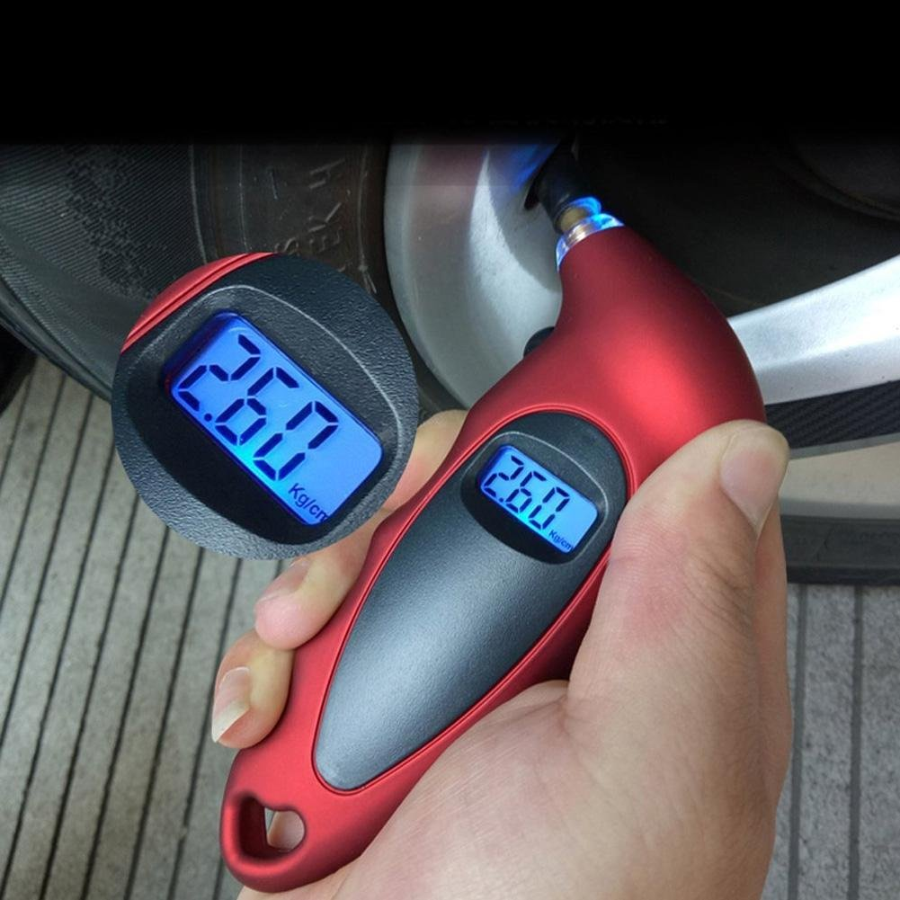 TR.OD LCD Digital Tire Tyre Air Pressure Gauge Tester Tool Tyre Tools For Car Auto Red