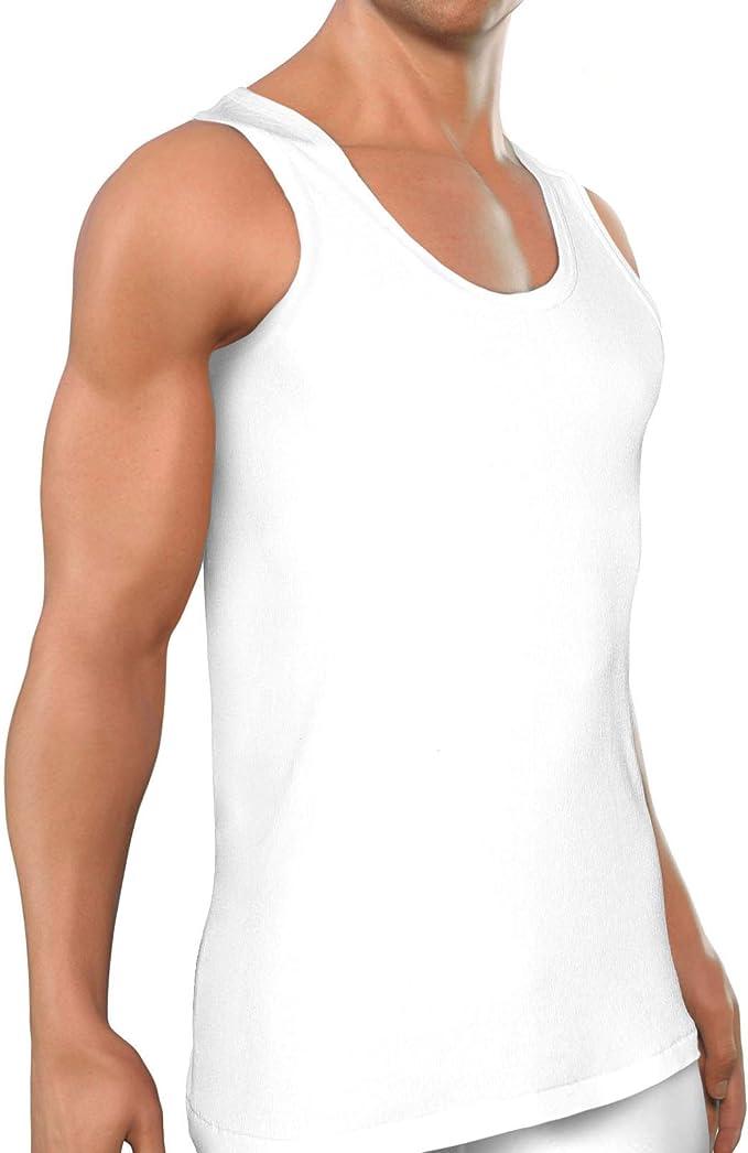 ROYALZ Camiseta Hombre 100% algodón Pack de 5 clásico Tank Top Camisetas-Interiores Larga Oeko-Tex Standard 100 Probado Set de 5: Amazon.es: Ropa y accesorios
