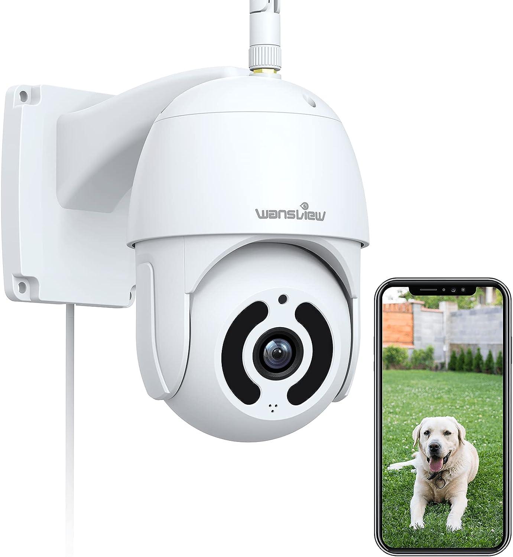 Security Camera Outdoor Wansview Surveillance 5% Large-scale sale OFF Wat 1080P Pan-Tilt