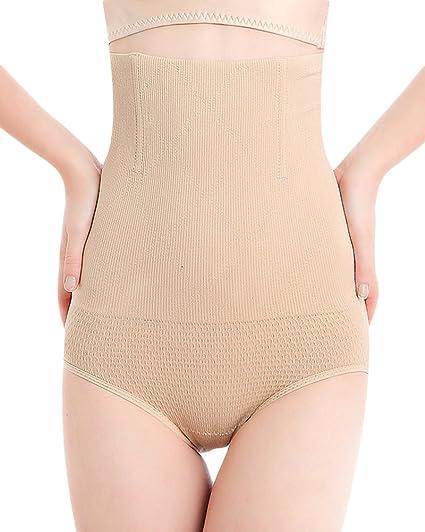 Mujeres Bragas Reductora de Cintura Alta Braguitas Ropa Interior de Vientre De Control Prendas 002 Desnudo