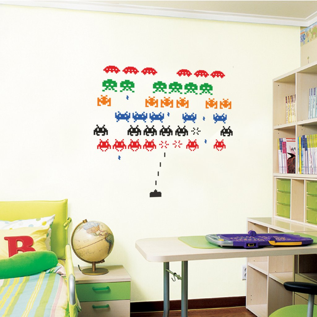 Space Invaders   Wall Decal Art Sticker Lounge Living Room Bedroom Hall  (Large): Amazon.co.uk: Kitchen U0026 Home Part 67