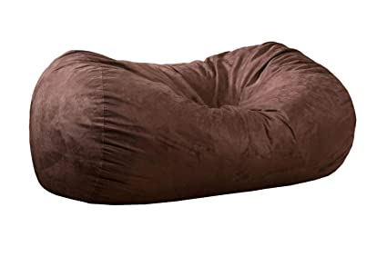 b24c06320843 Latitude Run Bean Bag Sofa Brown Sac Gigantic Chair 4 Big Lounger Bags Sack  6ft Giant