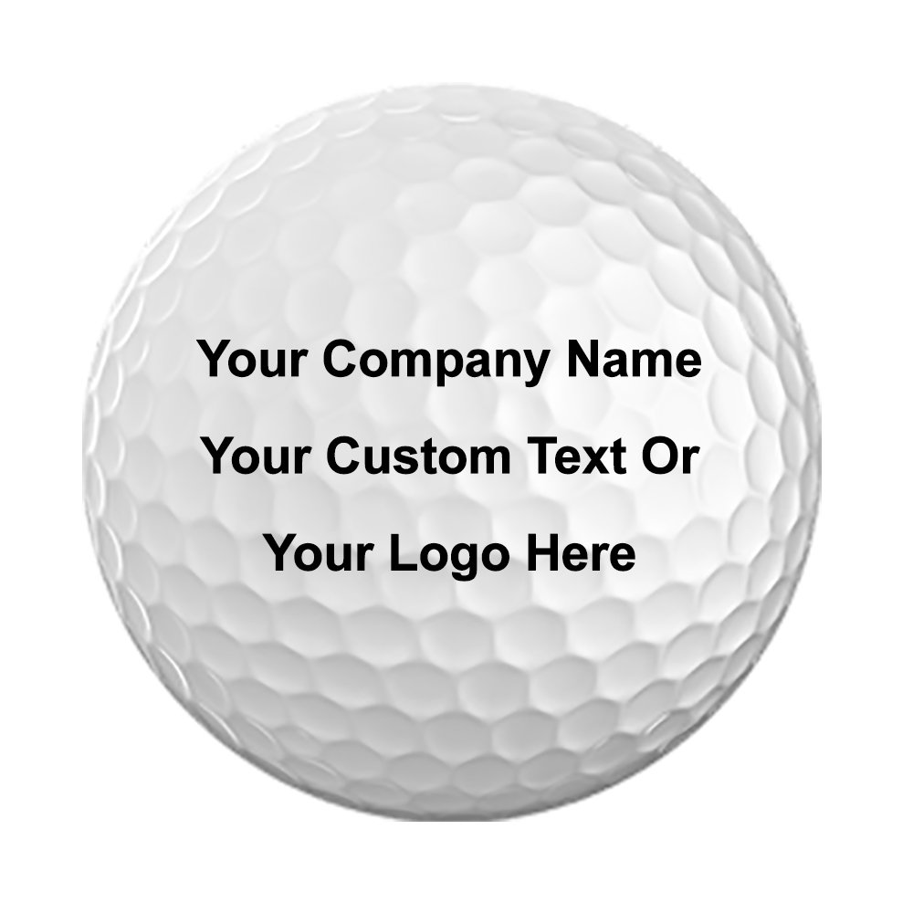 Pack of 12 Golf Balls 3D Color Printed with Your Personalized Photo, Text, or Logo for Company Gifts, Birthday, Christmas, Anniversary, Valentine's Day, Holiday, Just Because Presents by Hat Shark