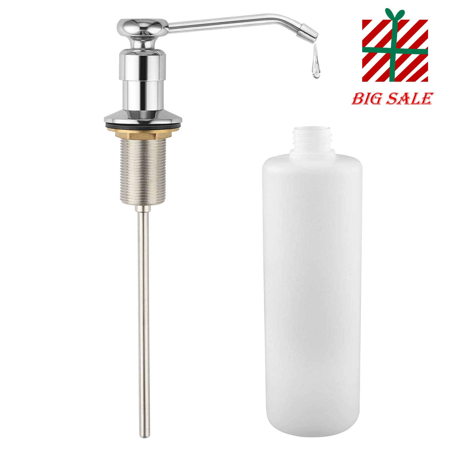 LOUYC Sink Soap Dispenser Built in Soap Dispenser Pump Pure Head Made of Copper Material (Chrome Plated)