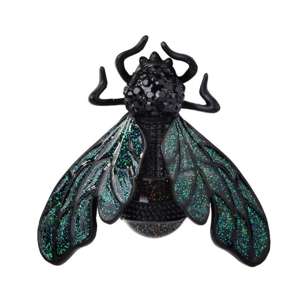 YYOGG Brooch Fashion Enamel Copper Zircon Bee Pearl Brooch Personality Temperament Pin Clothing