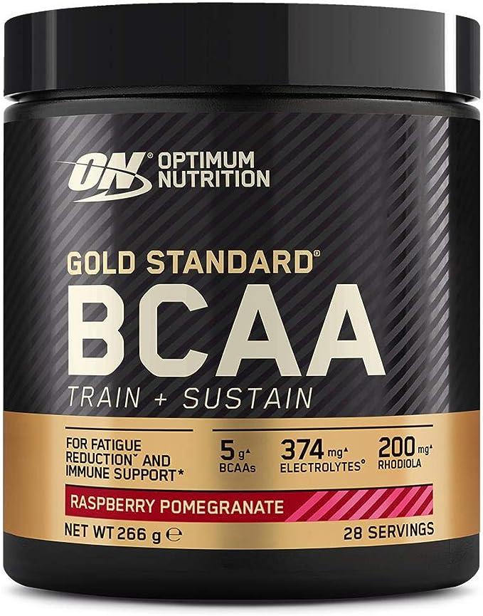 Optimum Nutrition Gold Standard BCAA Polvo, Suplementos Deportivos con Aminoacidos, Vitamina C, Zinc, Magnesio y Electrolitos, Frambuesa y Granada, 28 ...