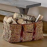 Handwoven Seagrass Log Basket