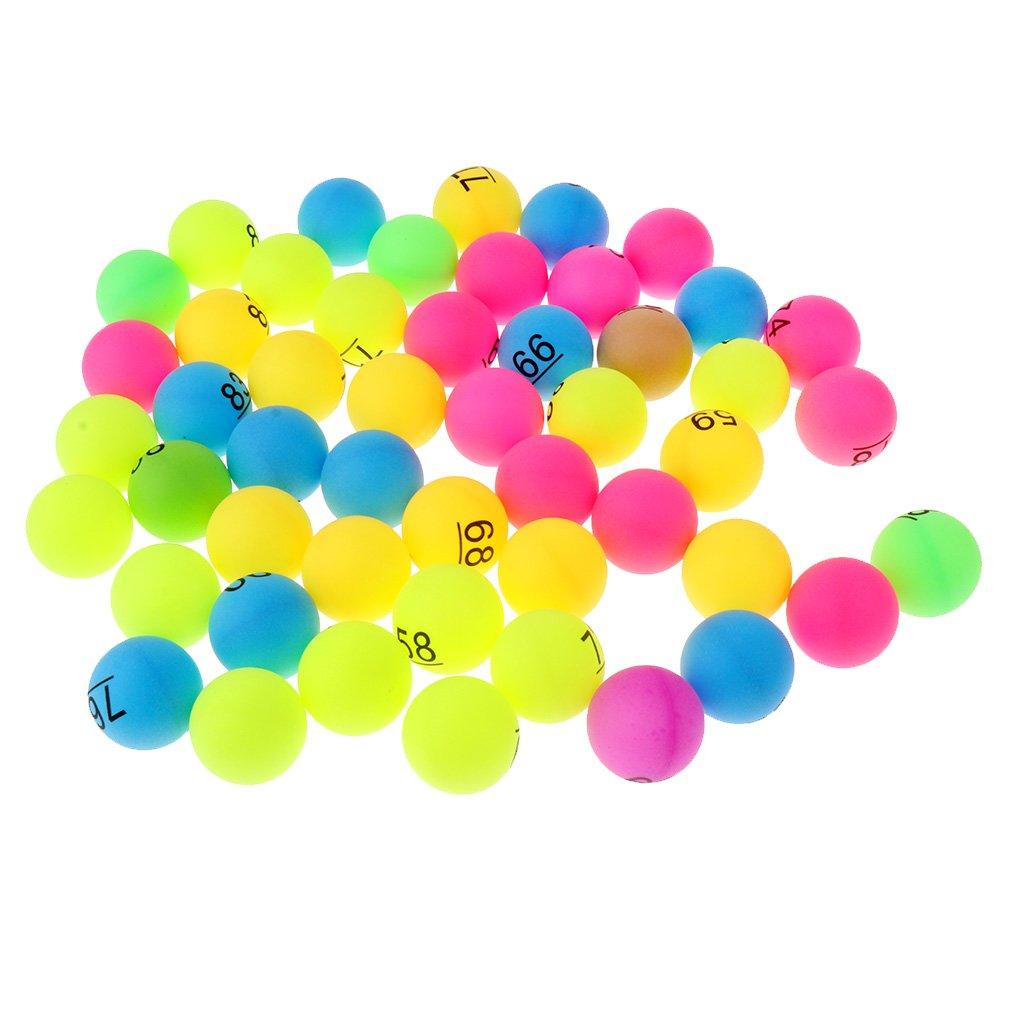 Baoblaze 50 Stk. Tischtennisbälle Ping Pong Bälle Lotteriekugeln Multicolor