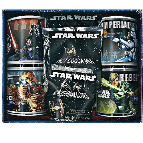 Star Wars 4 Pack Mug Gift Set with Cocoa and Marshmallow -