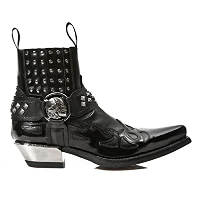 NewRock New Rock Boots Crocodile Skin Ankle Boot M.7953-S4