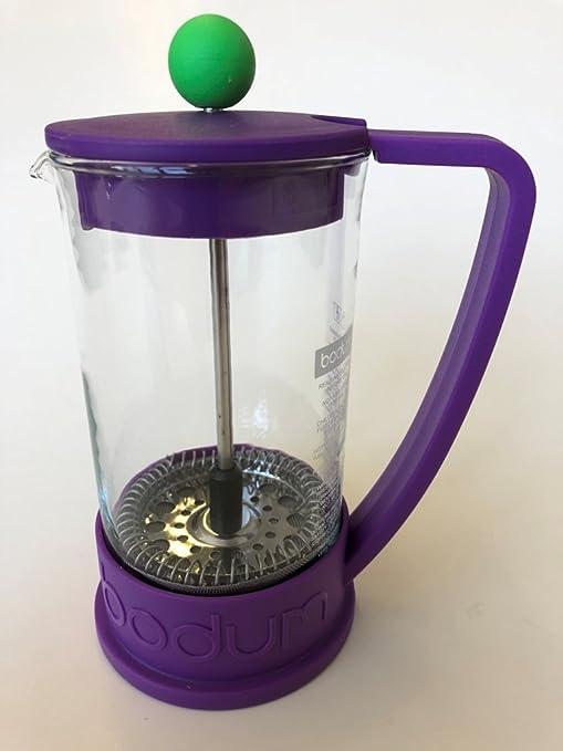 Bodum Brazil – Cafetera de émbolo para 3 tazas, 0,35 litros – Púrpura/Verde